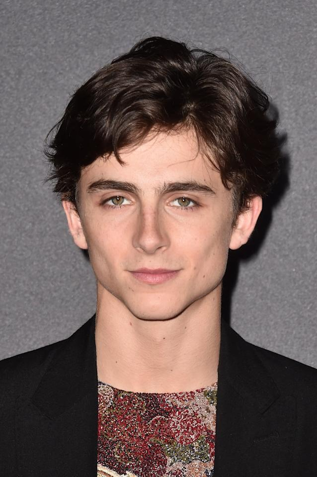 <p>When I perish, I would prefer the cause of my death to be impalement by Timothée's jawline.</p>