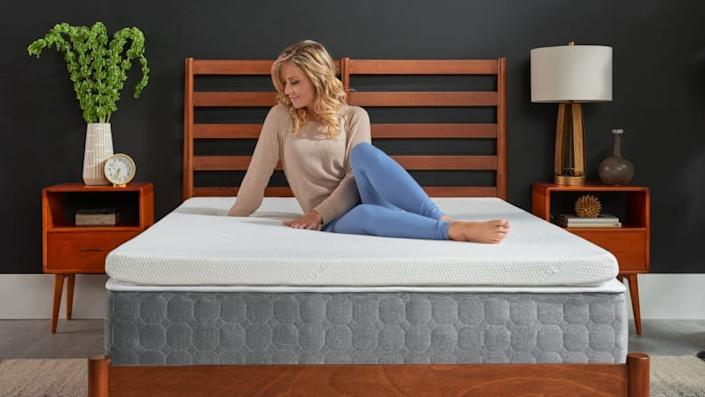 The Temper-Topper Supreme is made from the same memory foam as the brand's popular mattresses.