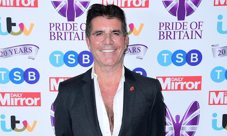 Simon Cowell at the Pride of Britain awards on Monday October 28th 2019 (Credit: PA)