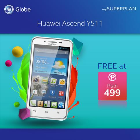 Huawei Ascend Y320 and Y511 Now Available Through Globe Telecom