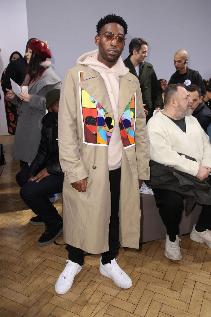 <p>Tinie Tempah has us dreaming up trench-and-hoodie combos this spring. <em>[Photo: Getty]</em> </p>