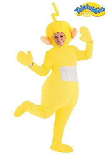 """<p><strong>Fun Costumes</strong></p><p>amazon.com</p><p><strong>$59.99</strong></p><p><a href=""""https://www.amazon.com/dp/B08KRTR22W?tag=syn-yahoo-20&ascsubtag=%5Bartid%7C10072.g.37059504%5Bsrc%7Cyahoo-us"""" rel=""""nofollow noopener"""" target=""""_blank"""" data-ylk=""""slk:SHOP NOW"""" class=""""link rapid-noclick-resp"""">SHOP NOW</a></p><p>Tinky-Winky, Dipsy, Laa-Laa, or Po—take your pick. No matter which character you choose to channel, you'll be walking around in a big, silly costume all night. </p>"""