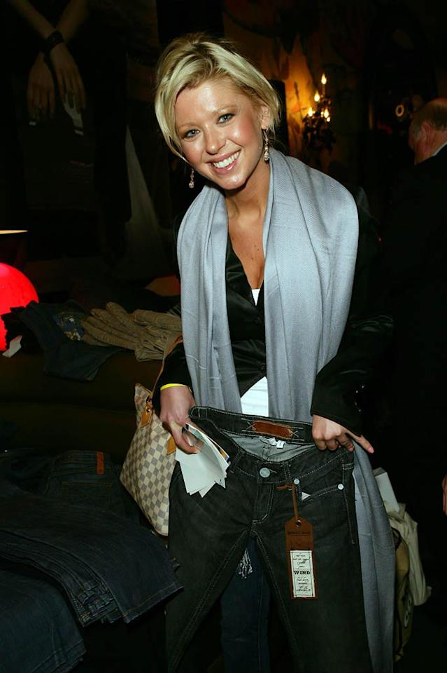 "Tara Reid was one of the many stars who showed up to get free stuff at pre-Oscar gift suites. It looks like the ""American Pie"" actress nabbed herself a pair of new jeans at the Silver Spoon gift lounge held at The Kress in Hollywood. Alex Turner/<a href=""http://www.splashnewsonline.com/"" target=""new"">Splash News</a> - February 21, 2008"