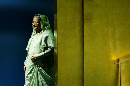 FILE PHOTO: Bangladeshi Prime Minister Sheikh Hasina arrives to address the 73rd session of the United Nations General Assembly at U.N. headquarters in New York, U.S., September 27, 2018. REUTERS/Eduardo Munoz/File Photo