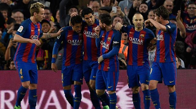 Luis Suarez put Barcelona ahead 10 against Sevilla with a stunning bicycle kick on Wednesday that opened the scoring floodgates by Barça in an eventual 3-0 win.