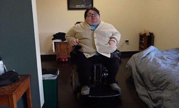 PHOTO: Emmanuel Smith, an advocate for Americans living with disabilities in Des Moines, Iowa, says caucuses can be discouraging for people with disabilities and even those who work evenings shifts. (ABC News)