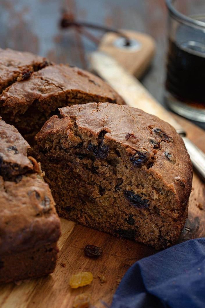 """<p>Try this traditional Irish dessert that's a dense cake made with your choice of porter. Make it in advance so the flavors can really soak in.</p><p><strong>Get the recipe at <a href=""""https://www.oliviascuisine.com/irish-porter-cake/"""" rel=""""nofollow noopener"""" target=""""_blank"""" data-ylk=""""slk:Olivia's Cuisine"""" class=""""link rapid-noclick-resp"""">Olivia's Cuisine</a>.</strong></p><p><strong><a class=""""link rapid-noclick-resp"""" href=""""https://go.redirectingat.com?id=74968X1596630&url=https%3A%2F%2Fwww.walmart.com%2Fsearch%2F%3Fquery%3Dspringform%2Bpan&sref=https%3A%2F%2Fwww.thepioneerwoman.com%2Ffood-cooking%2Fmeals-menus%2Fg35269814%2Fst-patricks-day-desserts%2F"""" rel=""""nofollow noopener"""" target=""""_blank"""" data-ylk=""""slk:SHOP SPRINGFORM PANS"""">SHOP SPRINGFORM PANS</a><br></strong></p>"""