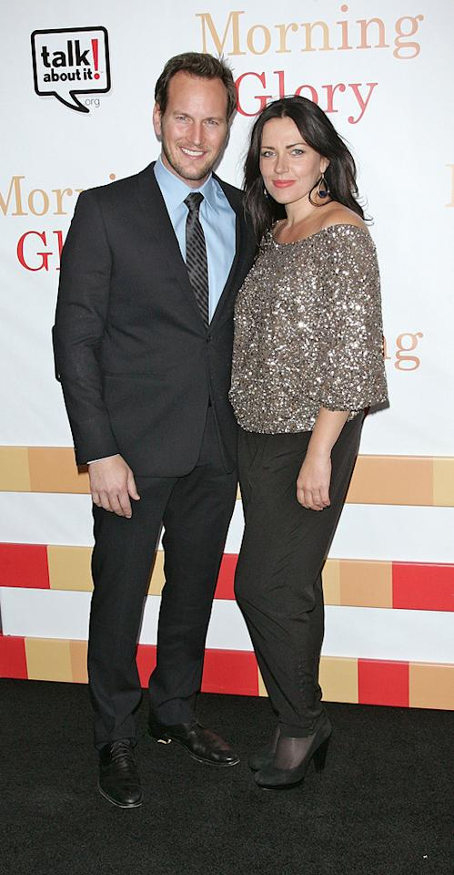 """<a href=""""http://movies.yahoo.com/movie/contributor/1804501534"""">Patrick Wilson</a> and wife Dagmara at the New York City premiere of <a href=""""http://movies.yahoo.com/movie/1810092333/info"""">Morning Glory</a> on November 7, 2010."""