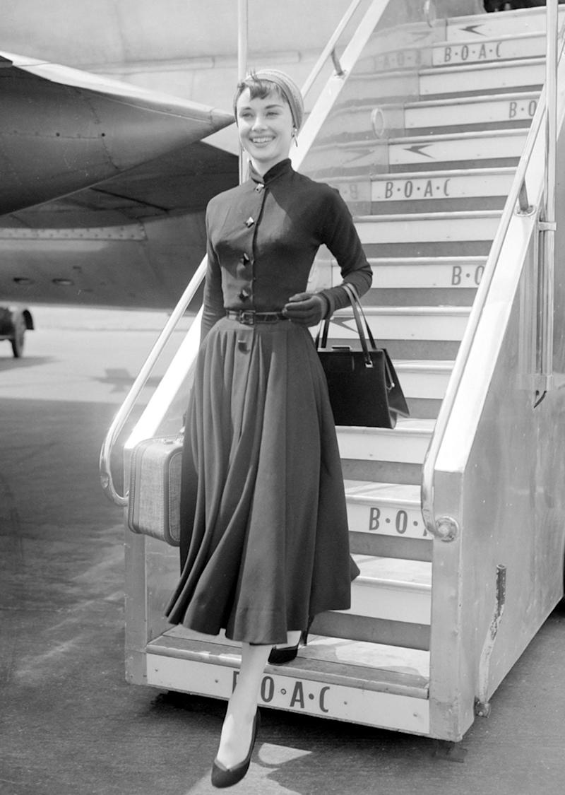 You wouldn't catch Audrey Hepburn in a laid-back look to travel.
