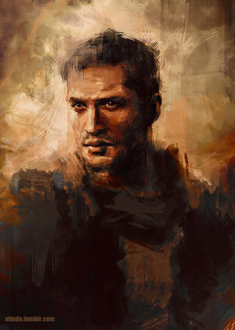 If Mad Max ever makes his way to the walls of a museum, it'd probably look something like this painting from ladynlmda. [source]