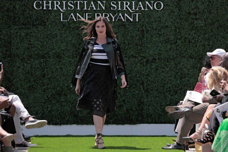 Photo: Getty Images A model walks the runway at the Christian Siriano for Lane Bryant Runway Show.