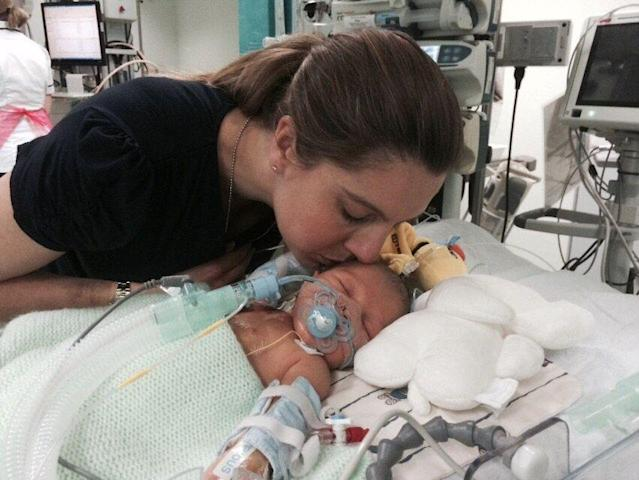 Mattia Ferasin was born with a hole in his heart (Picture: SWNS)