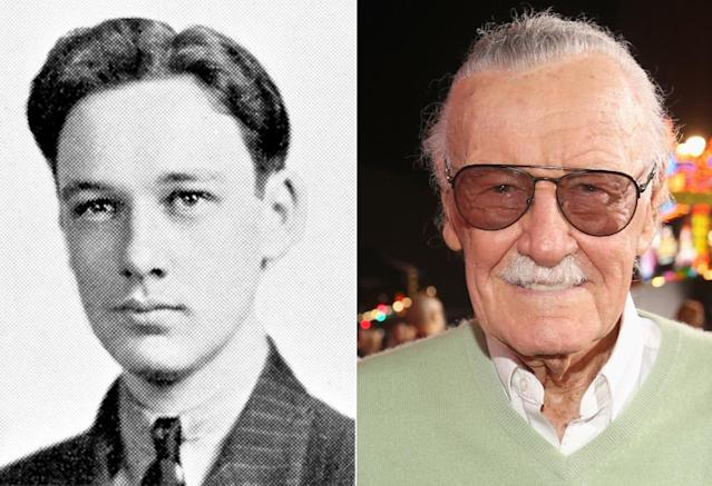 <p>Stan Lee didn't yet have a mustache back in his 1939 senior year photo from DeWitt Clinton High School in the Bronx, N.Y., but he did look ready to conquer the world — or, more specifically, to help build a universe.<br>(Photo: Seth Poppel/Yearbook Library/Getty Images) </p>