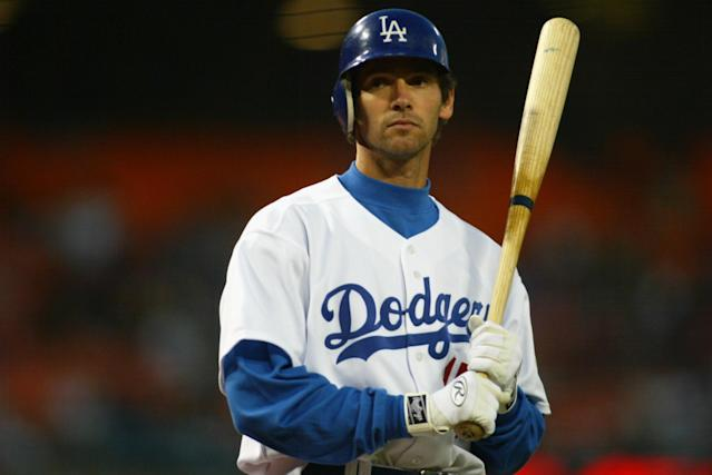 Shawn Green hit four home runs for the Dodgers in 2002. (Getty Images)