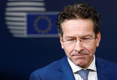 FILE PHOTO: Dutch Finance Minister and Eurogroup President Dijsselbloem arrives at EU finance ministers meeting in Brussels