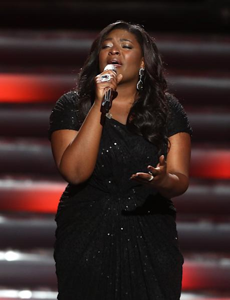"Winner Candice Glover performs at the ""American Idol"" finale at the Nokia Theatre at L.A. Live on Thursday, May 16, 2013, in Los Angeles. (Photo by Matt Sayles/Invision/AP)"