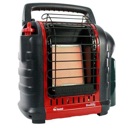 "This 4,000 to 9,000 BTU portable propane radiant heater warms spaces up to 225 square feet. It features auto shut-off and an easy-to-carry handle, making it perfect for camping trips, park outings or tiny backyards. <a href=""https://amzn.to/3dIJm3g"" target=""_blank"" rel=""noopener noreferrer"">Find it on sale for $73 (normally $99) on Amazon</a>."