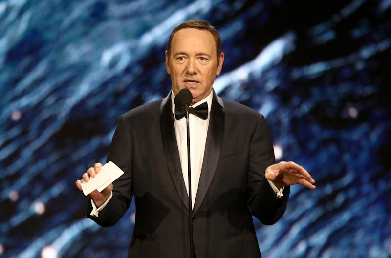 Kevin Spacey onstage to present Britannia Award for Excellence in Television on October 27, 2017 in Beverly Hills, California. (Credit: Frederick M. Brown/Getty Images)