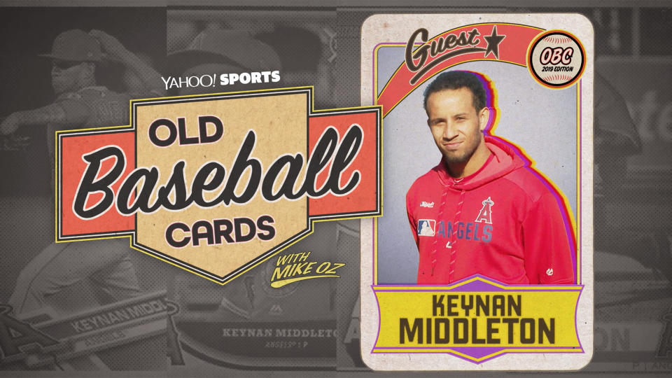"""Angels relief pitcher Keynan Middleton talks about Ichiro, Altuve and others on """"Old Baseball Cards."""" (Yahoo Sports)"""