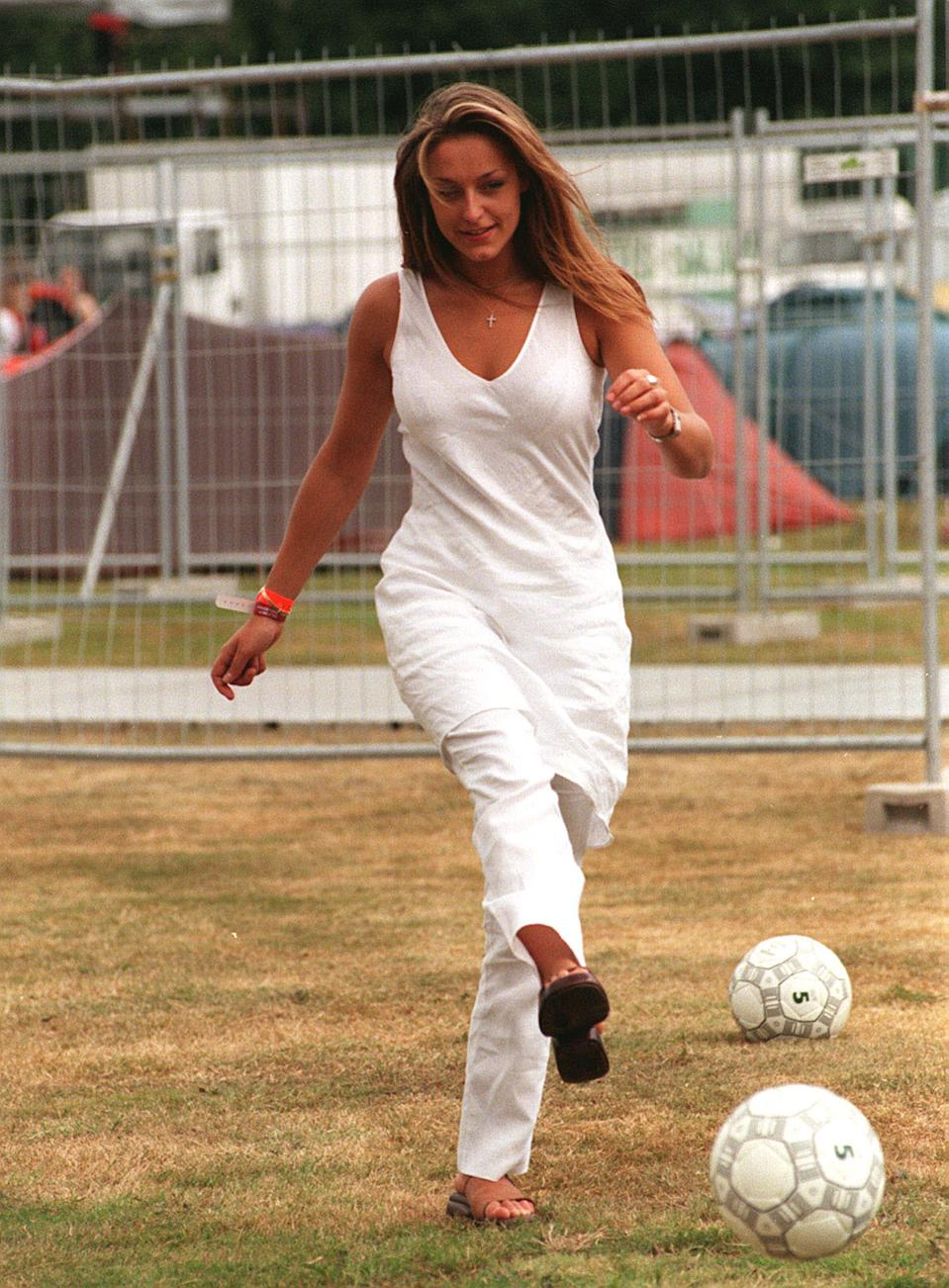 ACTRESS ANN MARIE DAVIES OF CHANNEL FOUR'S 'BROOKSIDE' AT THE V98 CELEBRITY FOOTBALL MATCH IN CHELMSFORD, ESSEX.