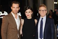 LONDON, ENGLAND - JANUARY 20: (L-R) Chris Pine, Keira Knightley and Kenneth Branagh attend the UK premiere of 'Jack Ryan: Shadow Recruit' on January 20, 2014 in London, England. (Photo by Dave J Hogan/Getty Images)