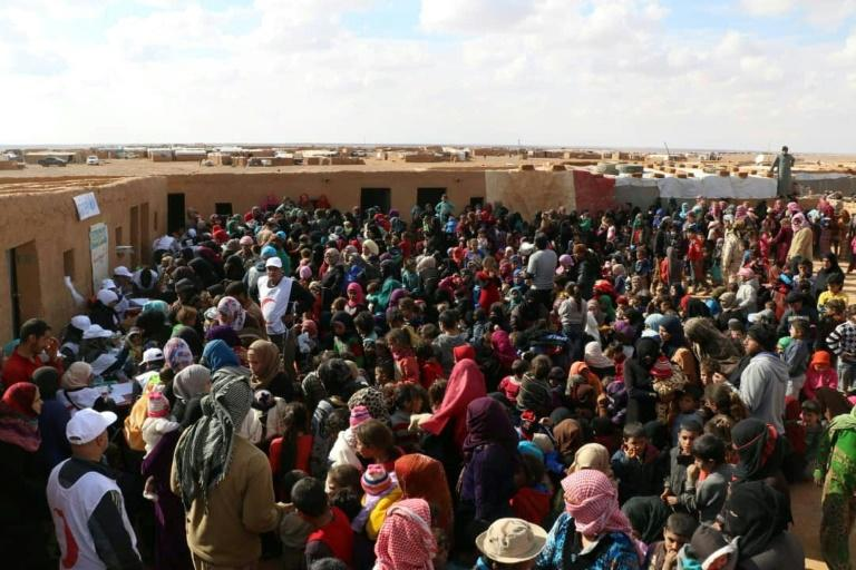Some 12,700 people remain in the Rukban camp which is near a base used by the US-led coalition, according to the UN