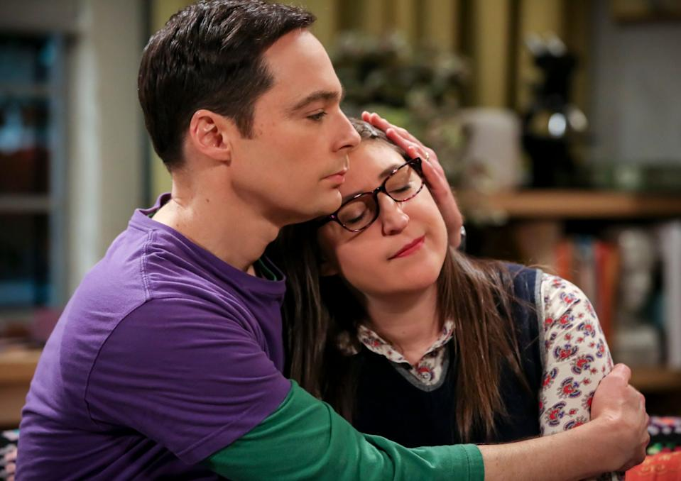 Sheldon (Jim Parsons), left, and Amy (Mayim Bialik) awkardly dated and eventually married as part of a central love story over nine-plus seasons of 'The Big Bang Theory.'