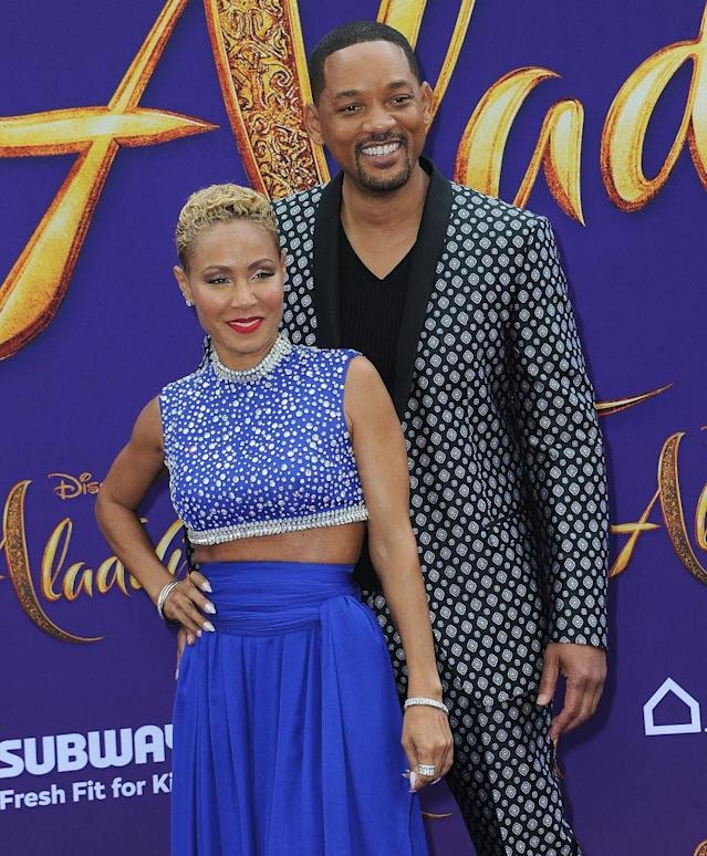 Jada Pinkett Smith and Will Smith have been married for more than two decades, pictured here at the premiere of Aladdin, May 2019. (Getty Images)