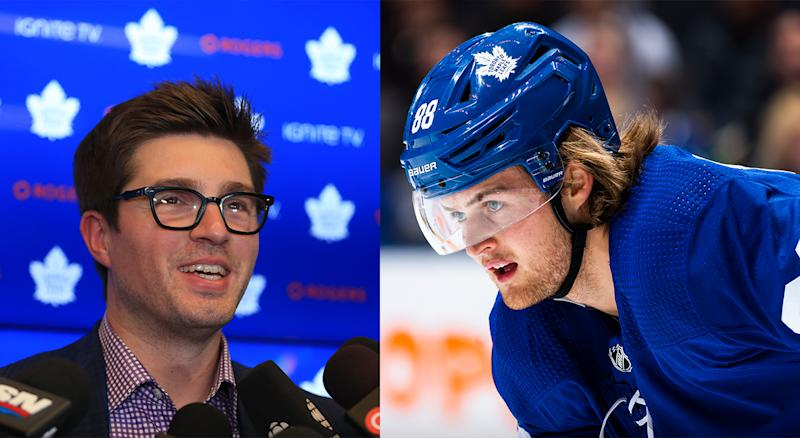 Kyle Dubas, the Maple Leafs general manager, only had good things to say about William Nylander after he was voted Comeback Player of the Year at midseason. (Getty Images)