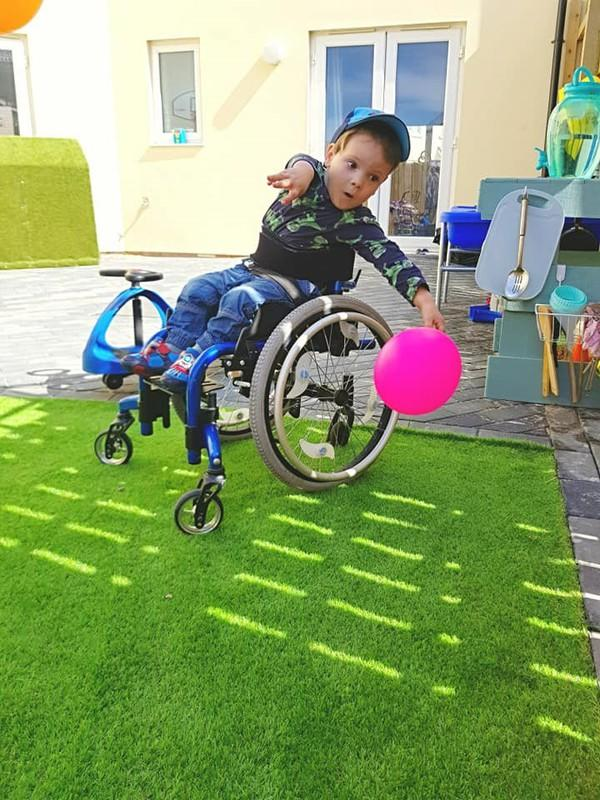 Noah suffers from Spina Bifida which requires regular trips to the hospital. (SWNS)