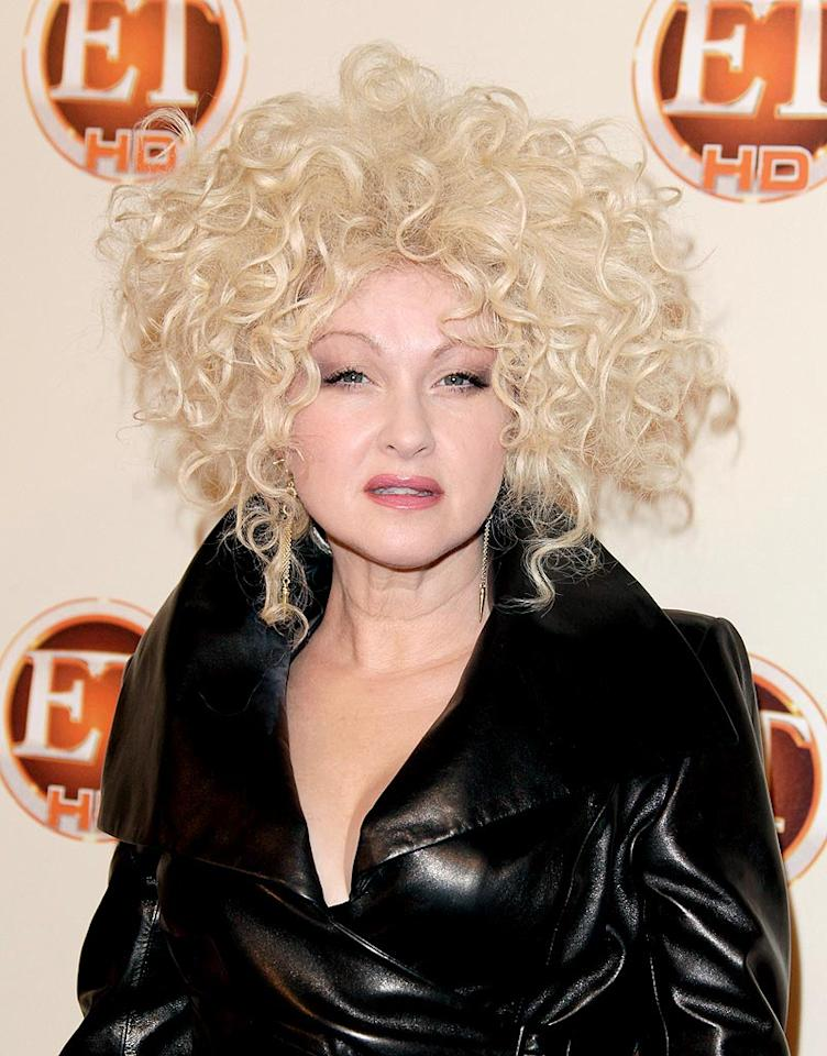 """Cyndi Lauper is known to rock outlandish looks from time to time, but this Medusa-inspired mane is over the top even for her. Todd Williamson/<a href=""""http://www.wireimage.com"""" target=""""new"""">WireImage.com</a> - August 29, 2010"""