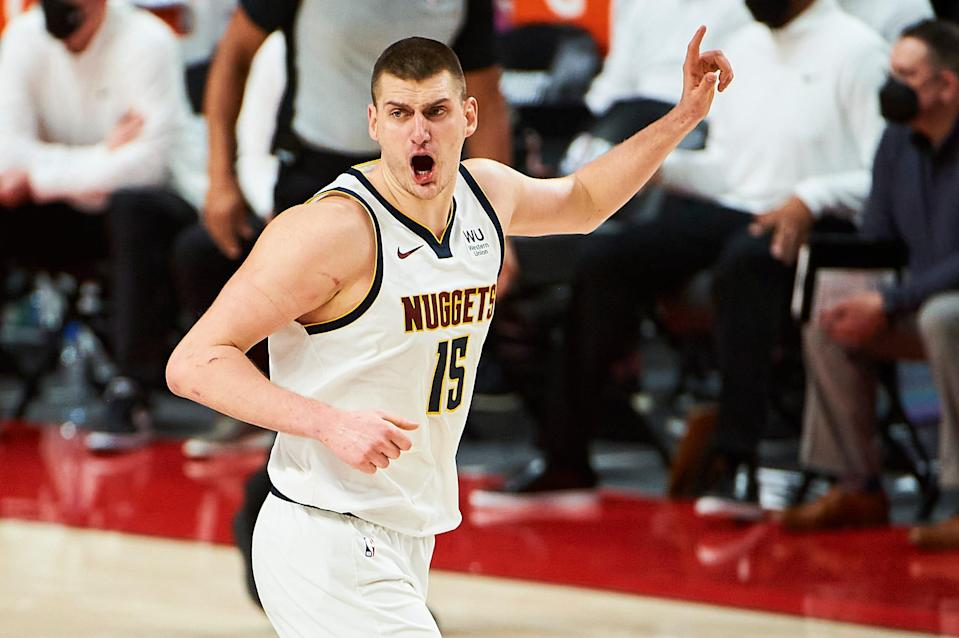 Nikola Jokic and the Nuggets will face the Suns in the second round.