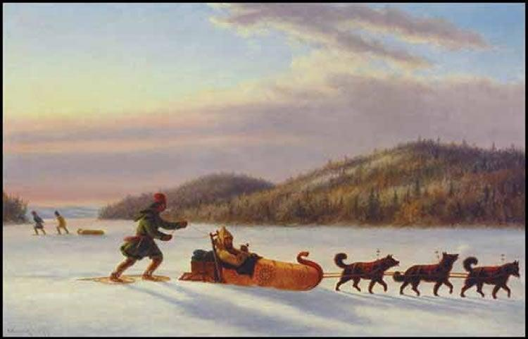 For thousands of years, humans in high latitudes have used dog sleds for transportCornelius Krieghoff
