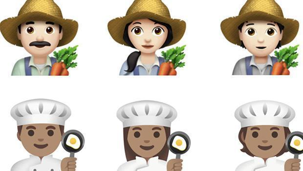 Male, female and gender-neutral emoji of workers. / Credit: CBS News