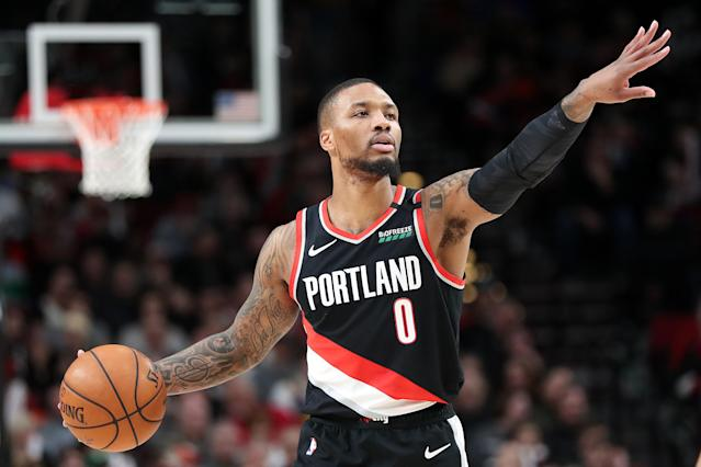 Damian Lillard will be on the cover of the new NBA 2K game. (Abbie Parr/Getty Images)