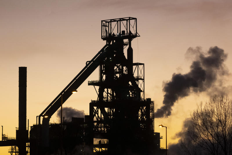 PORT TALBOT, UNITED KINGDOM - JANUARY 21: A general view of Tata Steel at sunset on January 21, 2020 in Port Talbot, United Kingdom. (Photo by Matthew Horwood/Getty Images)
