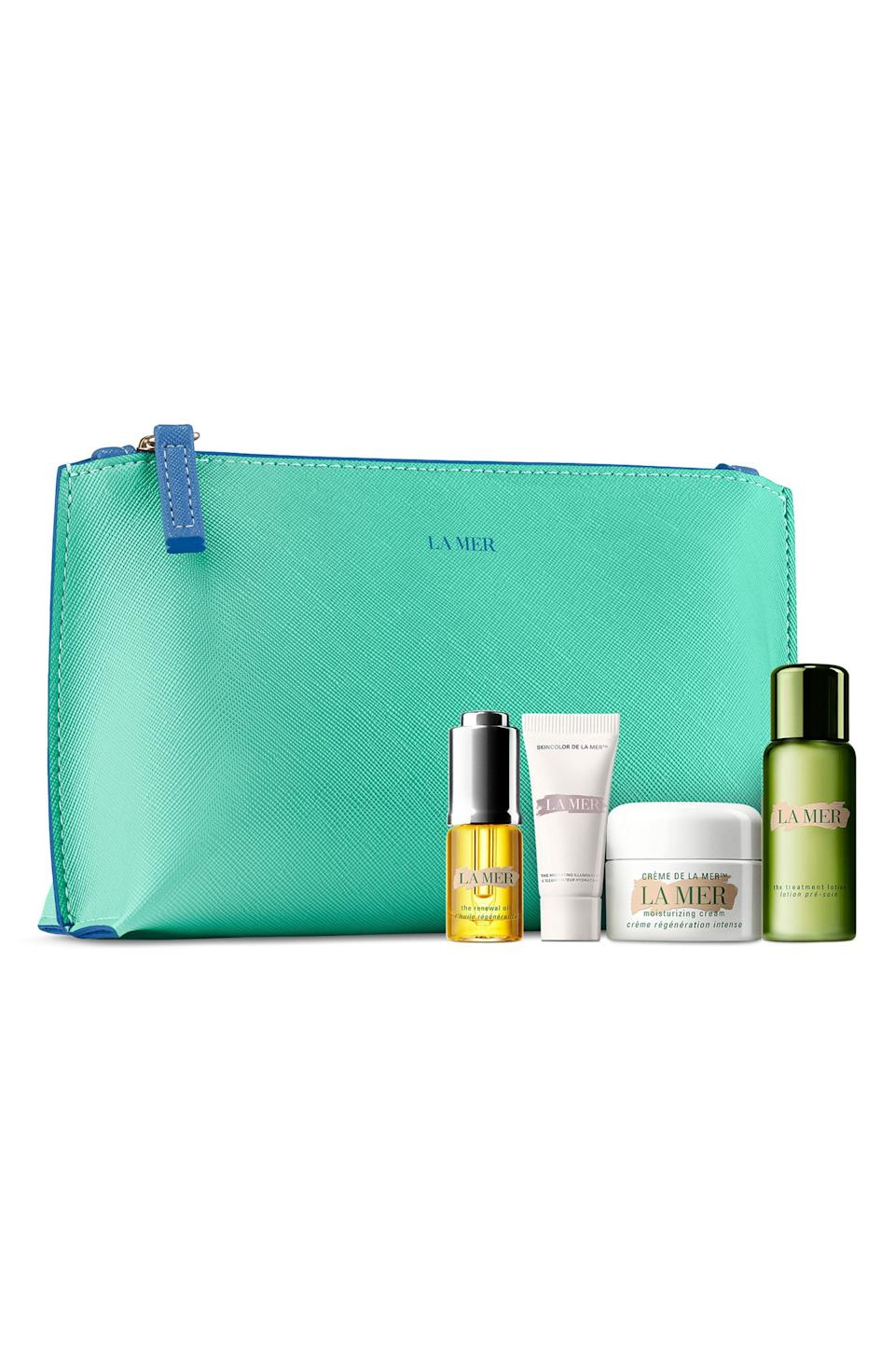 """<p><strong>LA MER</strong></p><p>nordstrom.com</p><p><a href=""""https://go.redirectingat.com?id=74968X1596630&url=https%3A%2F%2Fwww.nordstrom.com%2Fs%2Fla-mer-mini-hydration-collection-creme-set-155-value%2F5588613&sref=https%3A%2F%2Fwww.cosmopolitan.com%2Fstyle-beauty%2Ffashion%2Fg33597174%2Fnordstrom-anniversary-sale-2020%2F"""" rel=""""nofollow noopener"""" target=""""_blank"""" data-ylk=""""slk:Shop Now"""" class=""""link rapid-noclick-resp"""">Shop Now</a></p><p>Here's probably your only chance in life to try La Mer's top products for less than 100 bucks.</p><p><strong><del><br>$155</del><br>$90</strong></p>"""