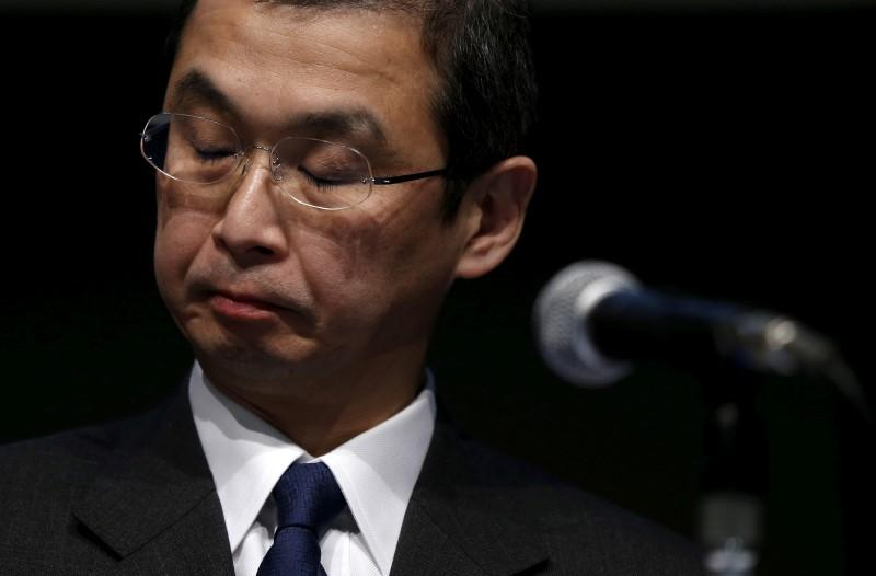 Takata Corp. Chief Executive and President Shigehisa Takada attends a news conference in Tokyo