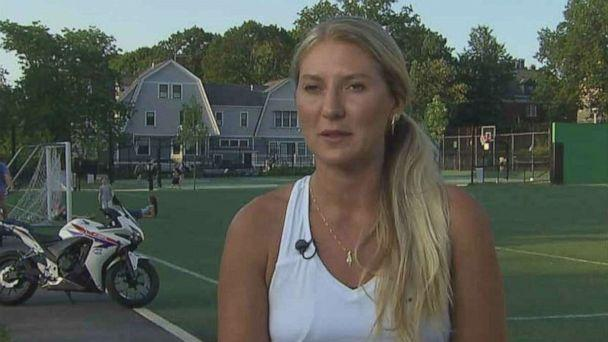 PHOTO: Aia Polansky, 33, confronted a man she says flashed her while she was jogging in Cambridge, Mass., on Thursday, July 18, 2019. (ABC News)