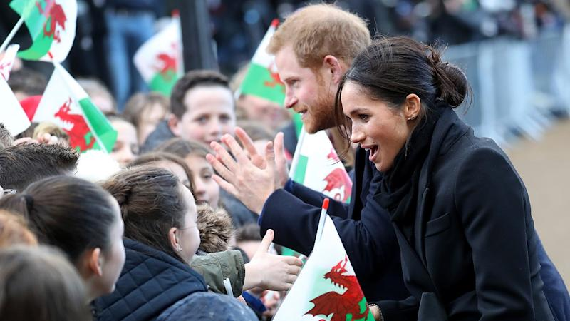 Meghan Markle and Prince Harry Are Cute As Ever in Wales Despite Experiencing Train Delays: Pics!