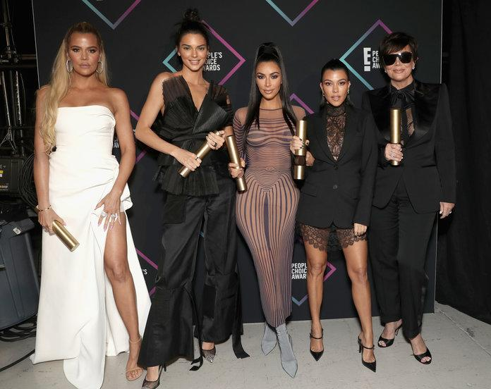 The Kardashians at the 2018 People's Choice Awards