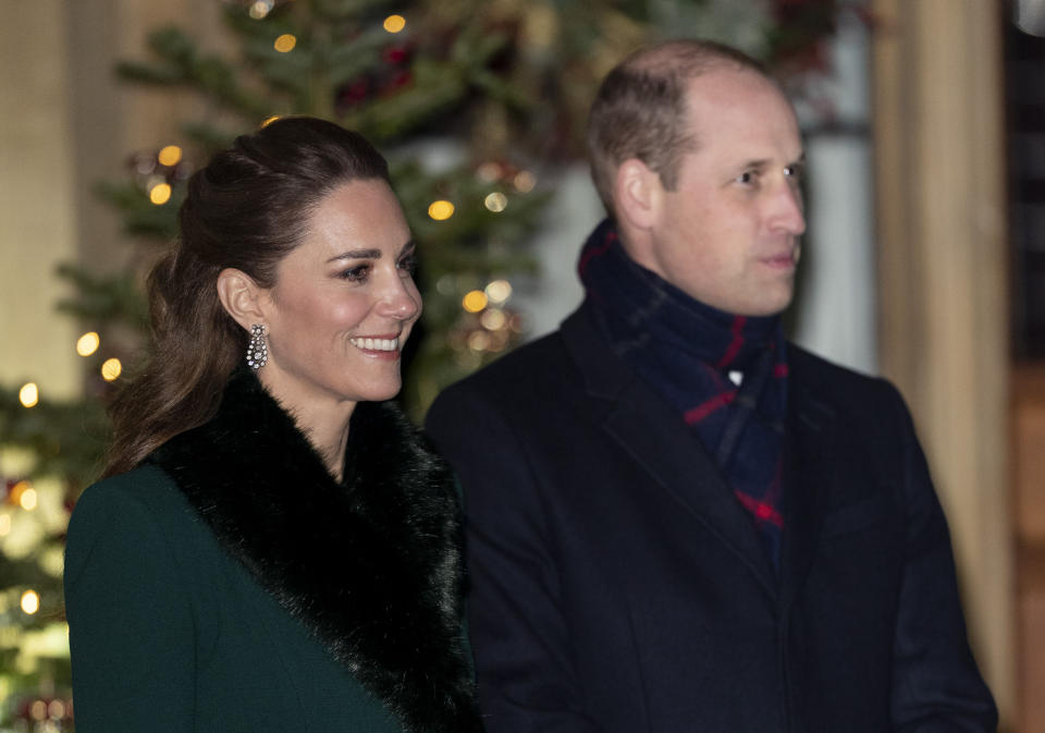 Photo by: zz/KGC-178/STAR MAX/IPx 2020 12/8/20 DECEMBER 8, 2020: Prince William The Duke of Cambridge and Catherine The Duchess of Cambridge at an event to thank local volunteers and key essential workers for their efforts during the worldwide coronavirus pandemic. (Windsor Castle, Windsor, England, UK)