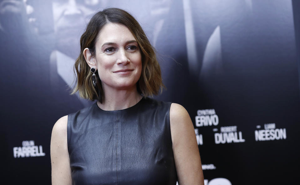 """Gillian Flynn attends a """"Widows"""" screening on November 11, 2018 in New York City. (Photo by John Lamparski/Getty Images)"""