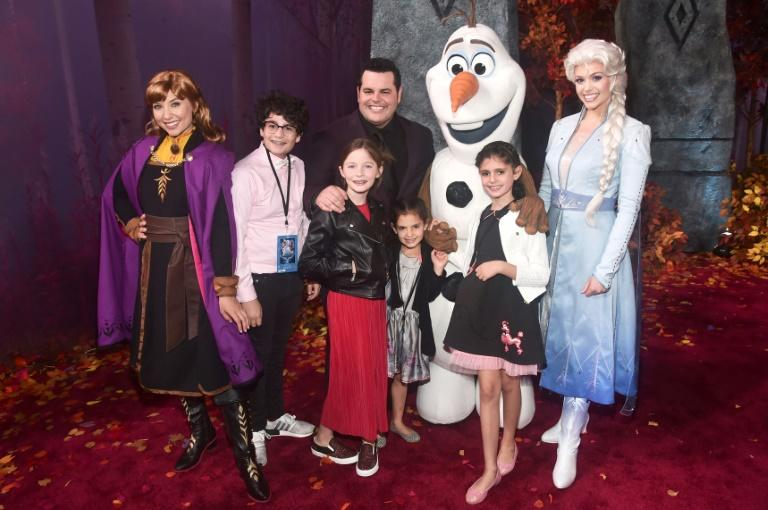 """Anna, Olaf, Elsa, actor Josh Gad, and guests attend the world premiere of Disney's """"Frozen 2"""" at Hollywood's Dolby Theatre on Thursday, November 7, 2019"""
