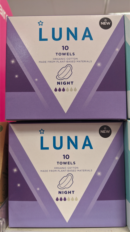 The sanitary towels are also made from plant-based materials. (SWNS)