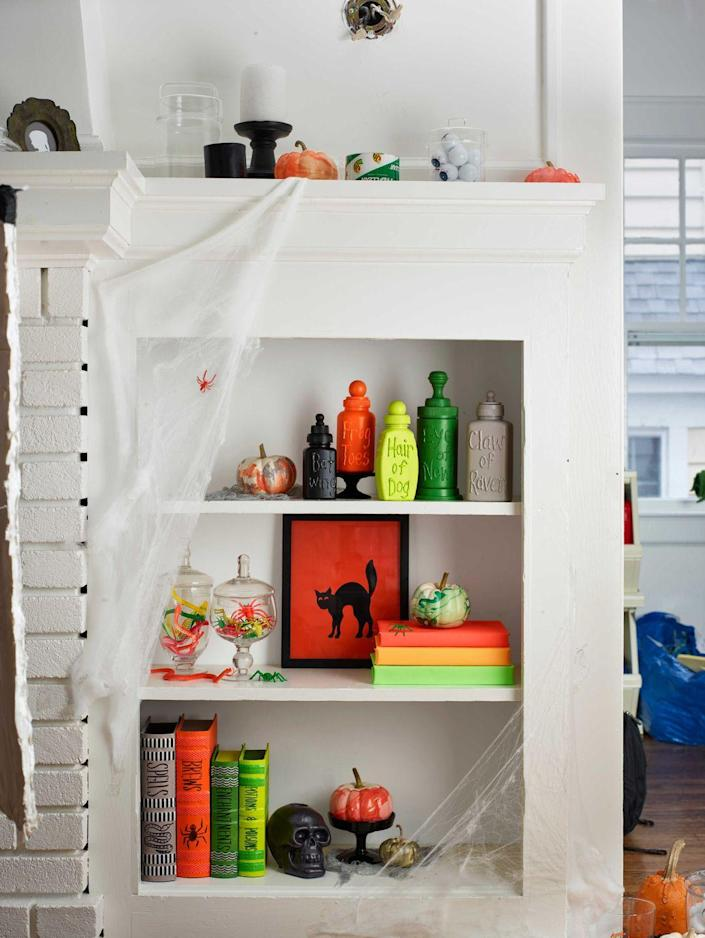 <p>For smaller pumpkins around the house, you'll find the secret ingredient in your beauty bag. Grab nail polish to create swirly designs on your gourds. </p>