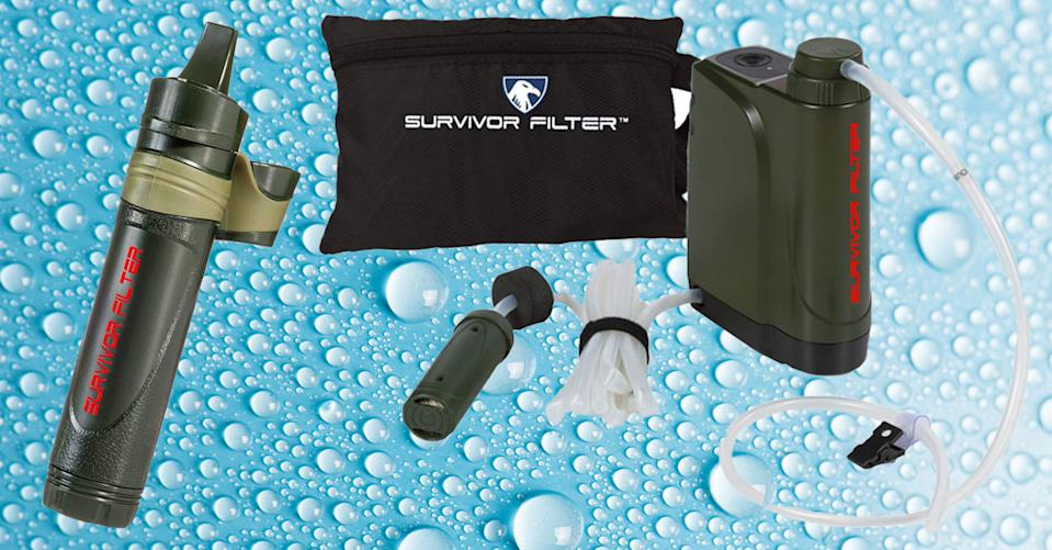 Survivor personal water filters are on sale today at Amazon. (Photo: Amazon)