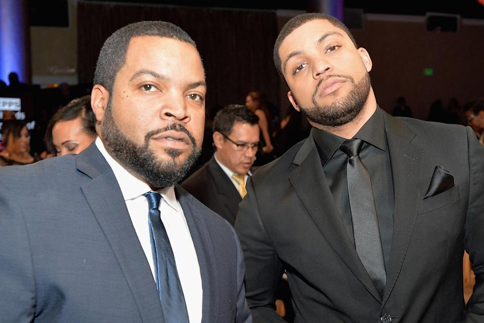 """<p>""""It's amazing. I can only equate it to a guy watching his kid win the Super Bowl on the same team he won the Super Bowl with,"""" Ice Cube told <a href=""""https://people.com/movies/ice-cubes-son-oshea-jackson-jr-had-to-audition-for-straight-outta-compton/"""" rel=""""nofollow noopener"""" target=""""_blank"""" data-ylk=""""slk:PEOPLE"""" class=""""link rapid-noclick-resp"""">PEOPLE</a> of watching his son play him in in <em>Straight Outta Compton.</em></p> <p>""""He did a phenomenal job,"""" he added with a smile. """"I don't know if I could've done a better job playing me.""""</p>"""
