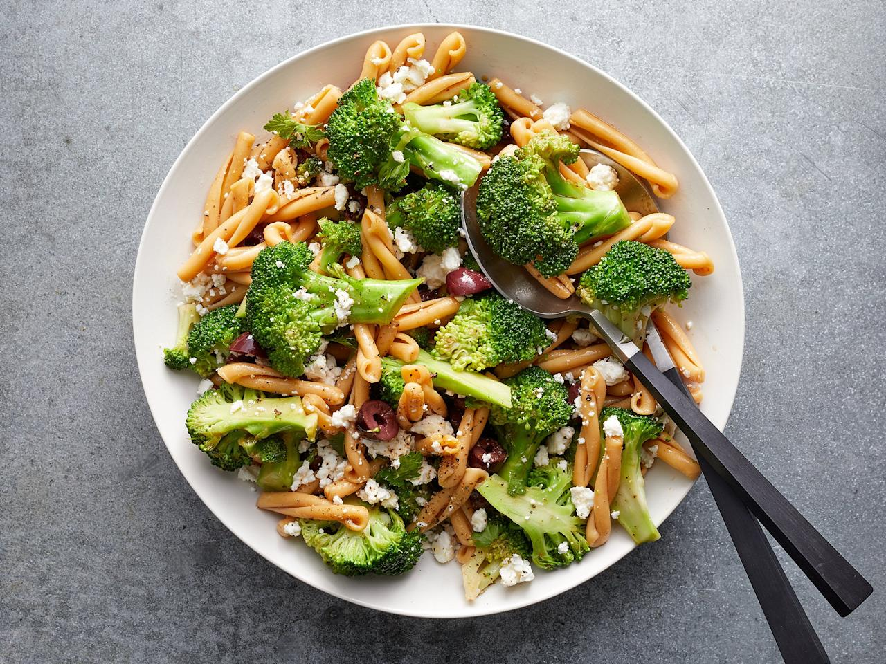 """<p>This healthy pasta salad is quick and easy to put together for picnics, potlucks, or to dole out throughout the week for lunch. Feel free to add more herbs and/or toss in others like oregano or dill for extra flavor.</p> <p> <a href=""""https://www.cookinglight.com/recipes/broccoli-feta-pasta-salad"""">View Recipe: Broccoli-Feta Pasta Salad</a></p>"""