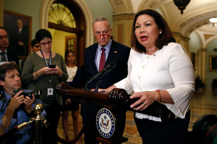Sen. Tammy Duckworth, D-Ill., served in Iraq and received the Purple Heart.